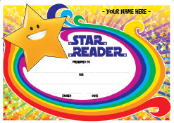 PC09 Star Reader Award Personalised Certificate