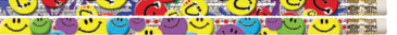 PN1472: Smiley Face Glitz award pencils (10)