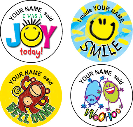 Ps10 multi pack personalised stickers