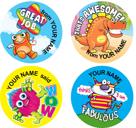 Ps11 multi pack personalised stickers