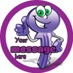 PS24 Purple Positive Keys Personalised Stickers