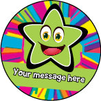 PS31 Green Bright Stars Personalised Stickers