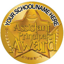 PS39 Assistant Principal's Award Personalised Stickers