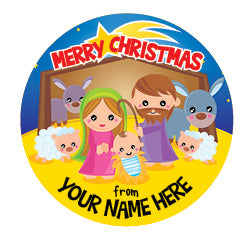 PS40 Merry Christmas Personalised Stickers