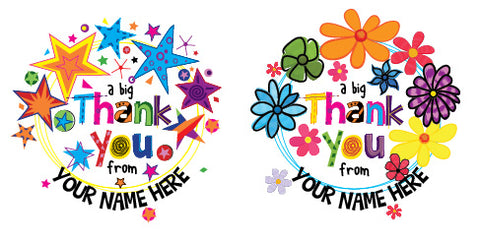 PS42 Thank You Personalised Stickers