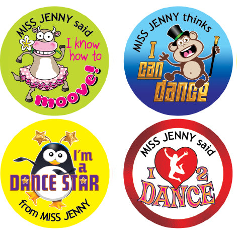 PSD1 Dance School Personalised Stickers