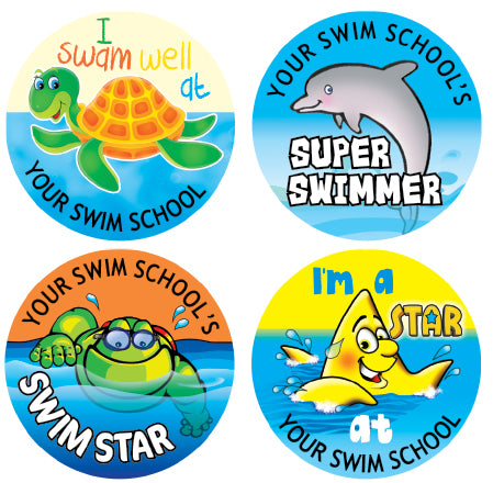 Pss1 swim school personalised stickers