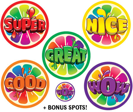 SBS12 Sticky Beak Scented Stickers: Gummy Words