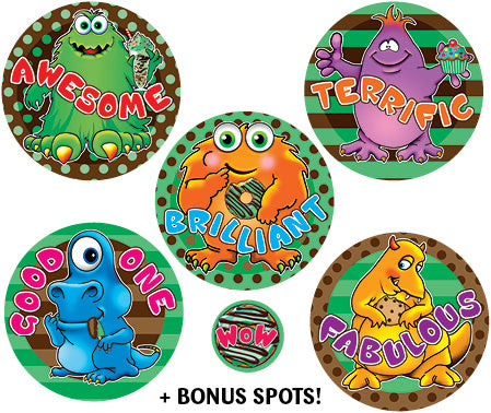 SBS13 Sticky Beak Scented Stickers: Choc Mint Monsters