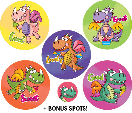 SBS14 Sticky Beak Scented Stickers: Gelato Dragons