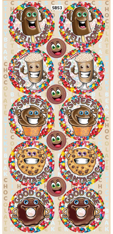 SBS3 Sticky Beak Scented Stickers: Chocolate