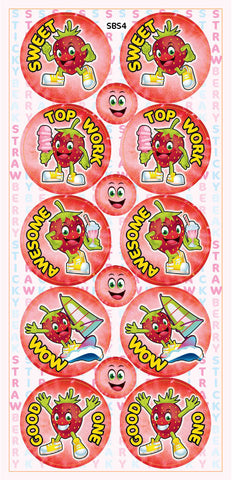 SBS4 Sticky Beak Scented Stickers: Strawberry