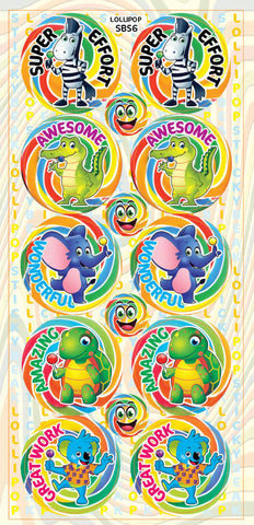 SBS6 Sticky Beak Scented Stickers: Lollipop