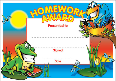 SCT003: Homework Award