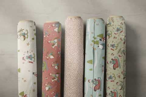 make ready for christmas fabric collection rolled