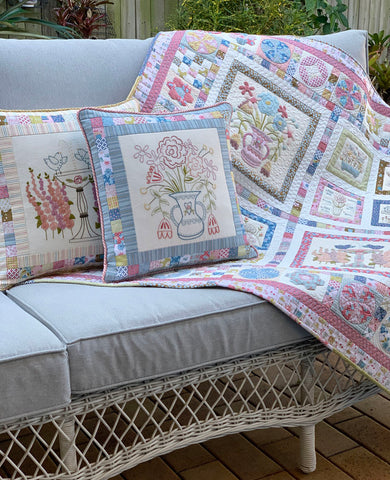 quilt and cushions
