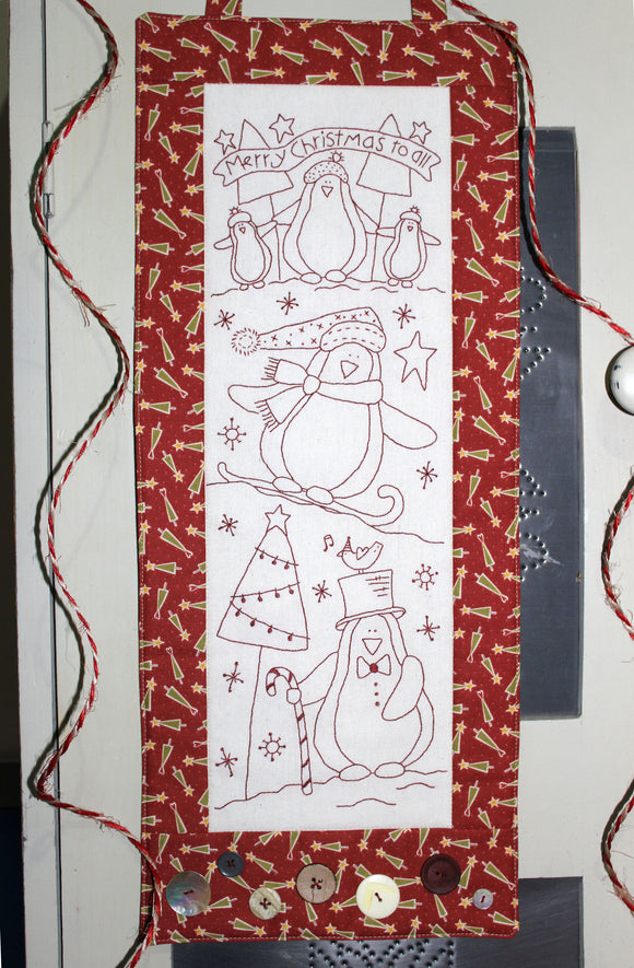 Chilly Penguins Stitchery