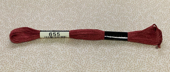 Cosmo Stranded Embroidery Thread – 655 Red