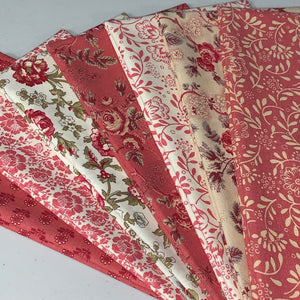 La Rose Rouge Fabric Bundle – Fat 1/4