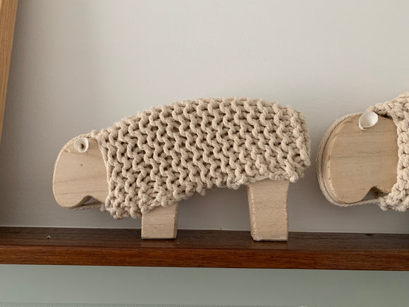 Lambert Woven & Wood Sheep – Small