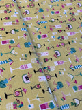 Cocktail Print fabric