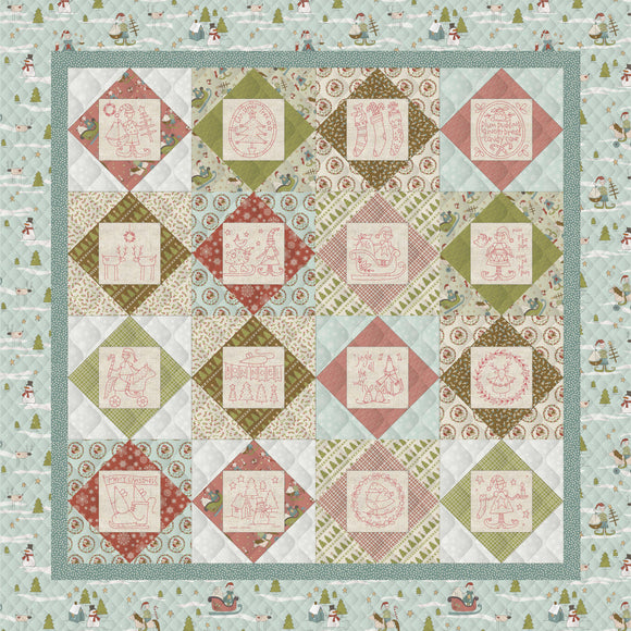 Square in a Square Christmas Quilt – Kit (Blue Borders)