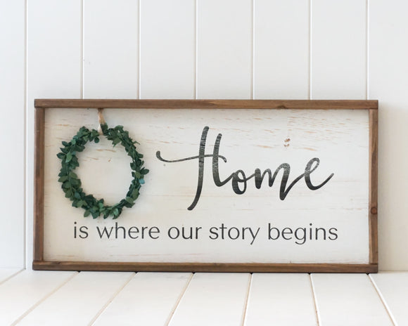 Timber Quote Wall Art – Our Story Begins