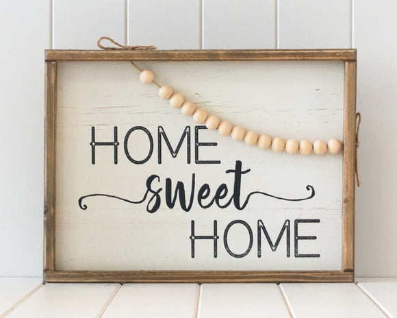 Timber Quote Wall Art – Home Sweet Home