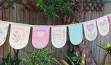 Sunny Days (Bunting Flag) Stitchery Panel