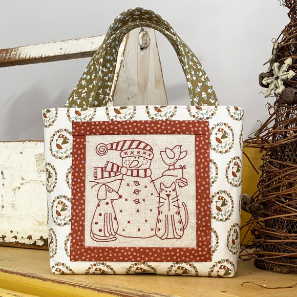 Snowy & Friends Christmas Bag Kit – Cream/Brown