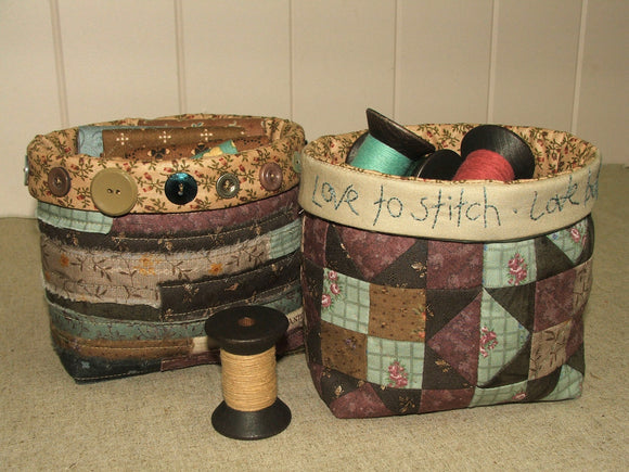 Fabric Baskets Pattern