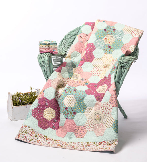 Willowbrook Hexie Quilt – Kit