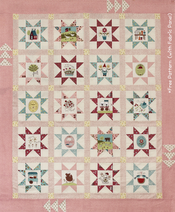 Star Quilt Kit using Willowbrook Colour Panel