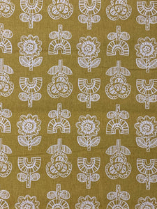 Modern Yellow Floral on Linen