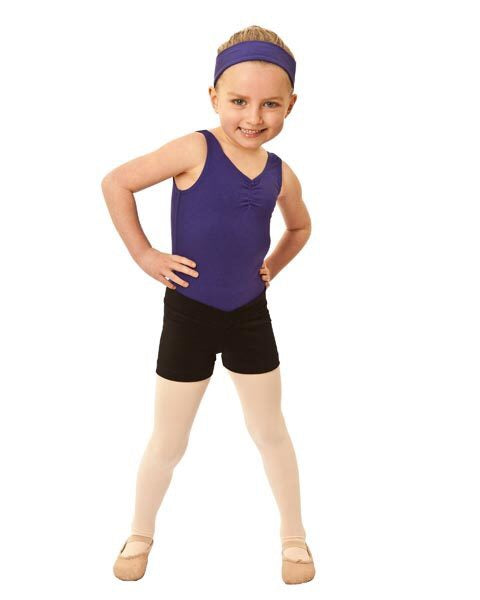 Children's V band hot shorts black