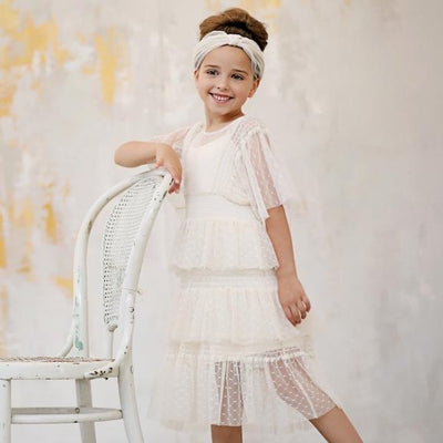 Designer Kidz Tasha Tiered Mesh Dress