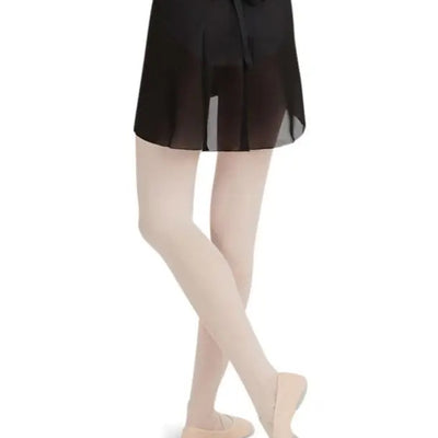 Capezio Georgette Wrap Skirt - Black