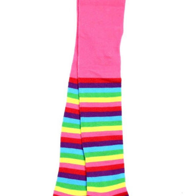 Plain Rainbow Stripe Tights