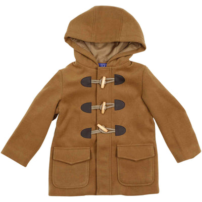 Boys zip duffel coat rust