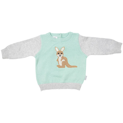 Korango Kangaroo Knit Sweater(mint)