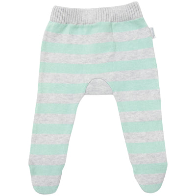 Korango Striped Knit Leggings (mint)
