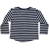 Striped Henley tee navy