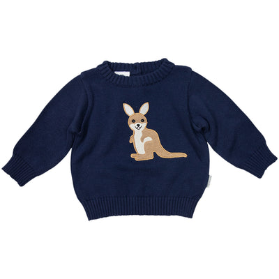 Korango Kangaroo Knit Sweater(navy)