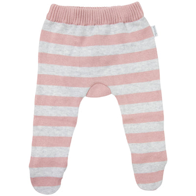 Korango Striped Knit Leggings (pink)