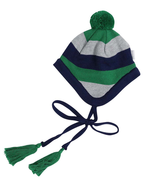 Stripe Lined Knit Beanie