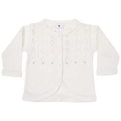 Hand embroidered knit cardigan