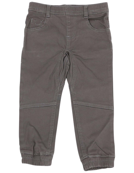 Charcoal Stretch Twill Chino Pants
