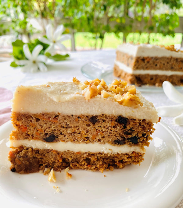 "Carrot Currant Masala Cake + ""Cream Cheese"" Frosting"