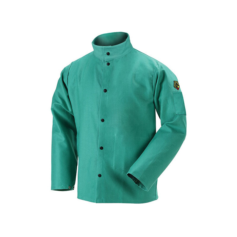 Revco Black Stallion Green 9oz FR Premium Cotton Welding Jacket F9-30C