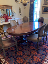 Load image into Gallery viewer, RARE OVAL HENREDON DOUBLE PEDESTAL DINING TABLE